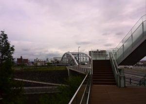 熊本市の白い橋