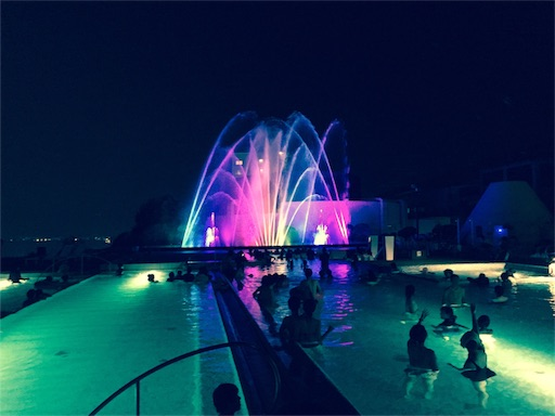 杉乃井ホテル噴水ショー
