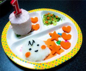 1歳誕生日プレート