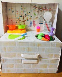 手作りミニキッチン