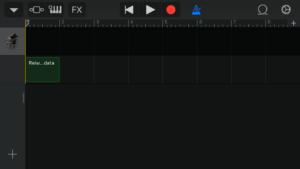 オーディオファイルをドラッグした画面