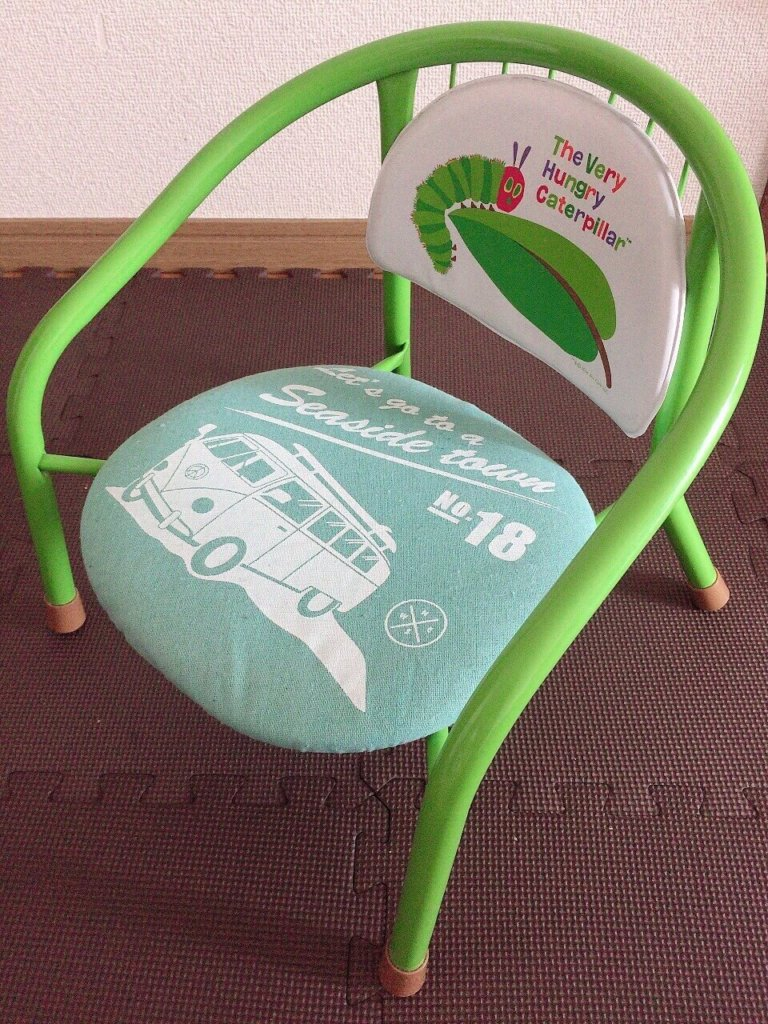 カバー交換後の豆椅子